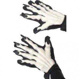 Rukavice černé drápy (10-J) Smiffys.com