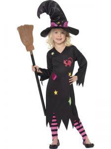 Dětský kostým čarodějnice  - M (85-C)