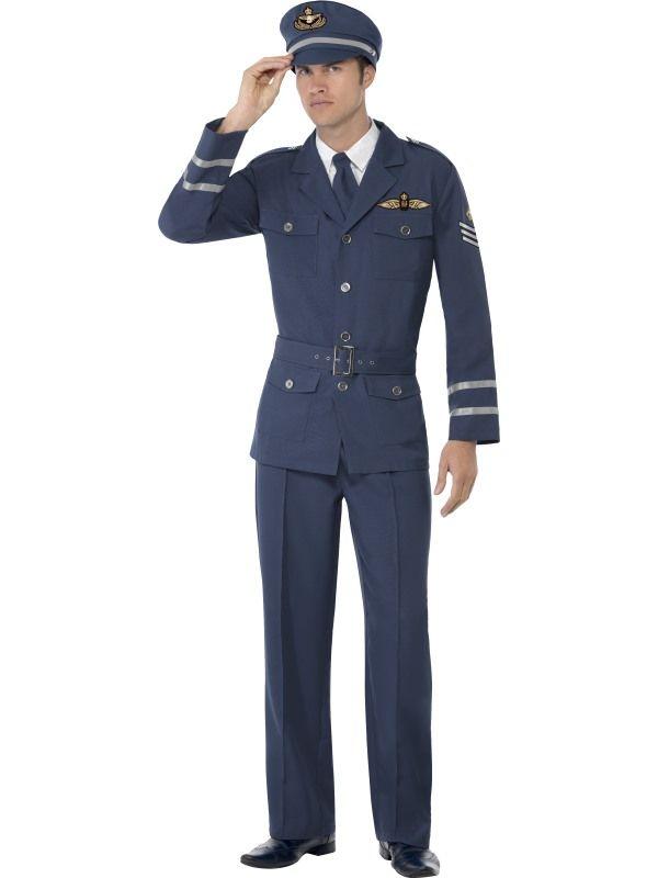 Kostým - Kapitán Air Force - L Smiffys.com