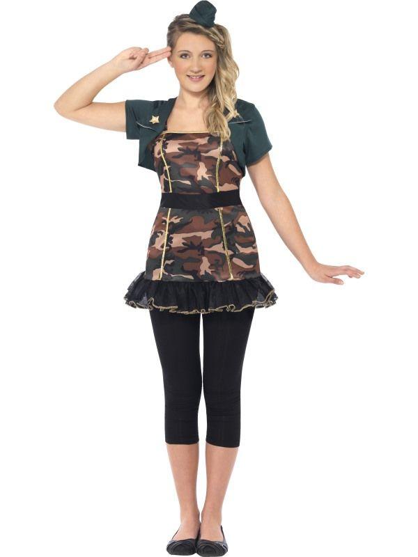 Kostým - Army slečna - XS (87-E) Smiffys.com