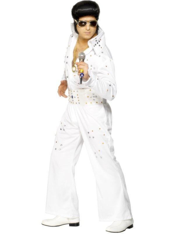 Kostým - Elvis bílý - L (106) Smiffys.com