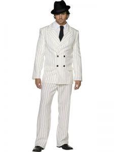 Kostým - Gangster bílý - L (103)