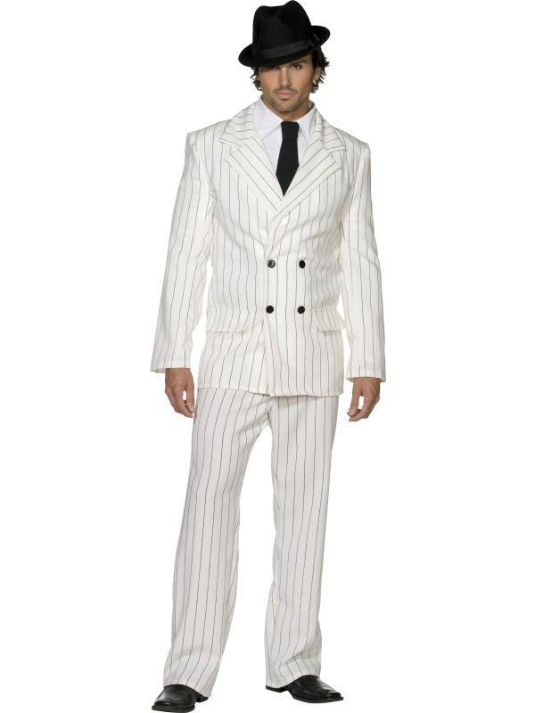 Kostým - Gangster bílý - L (103) Smiffys.com