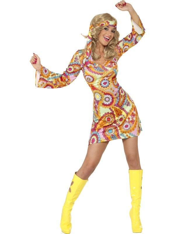 Kostým - Hippiesačka - L (95) Smiffys.com
