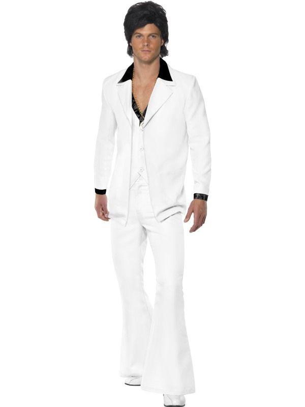 Kostým - Oblek 70. let - bílá - XL (105) Smiffys.com