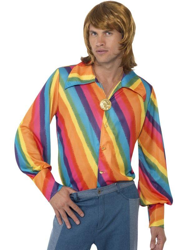 Kostým - Košile barevná 70léta - L (103) Smiffys.com