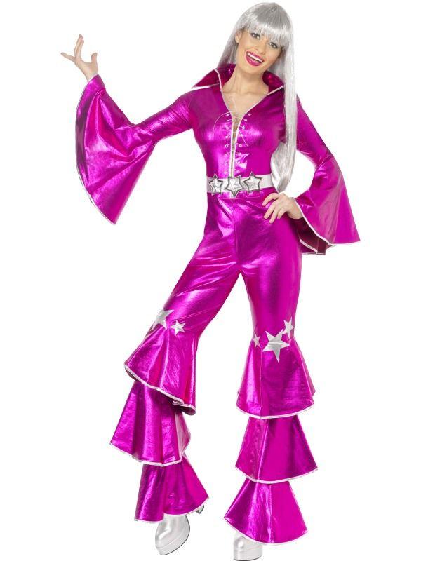 Kostým - ABBA Dancing dream 1970´s - růžová - M (88-B) Smiffys.com