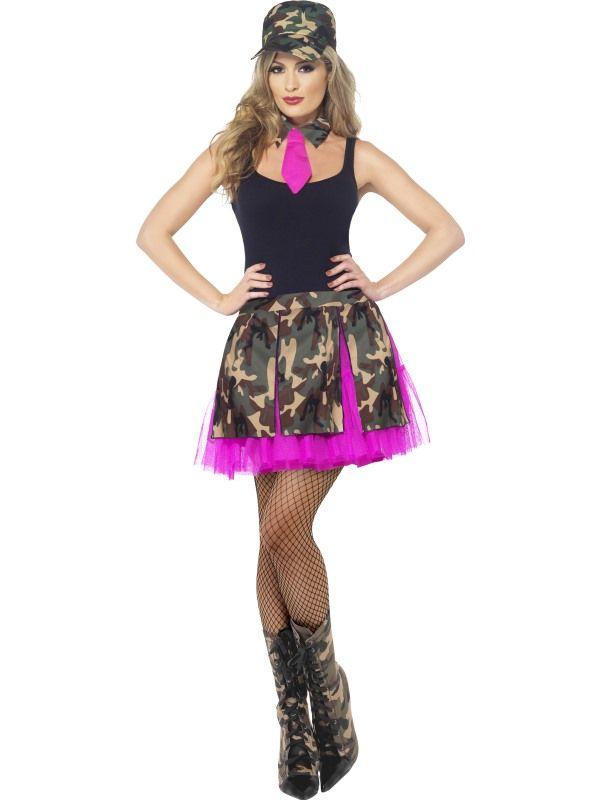 Sada Army - sukně čepice (55)- M Smiffys.com