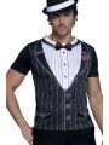 Kostým - Gangster - tričko - M (100)