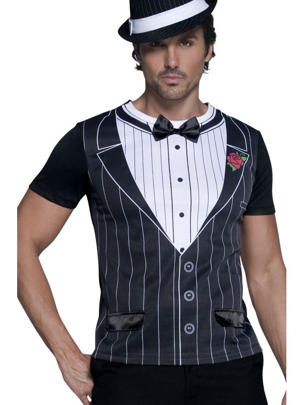 Kostým - Gangster - tričko - M (100) Smiffys.com