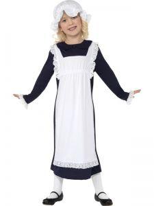 Dětský kostým - viktoriánská chudá dívka - S