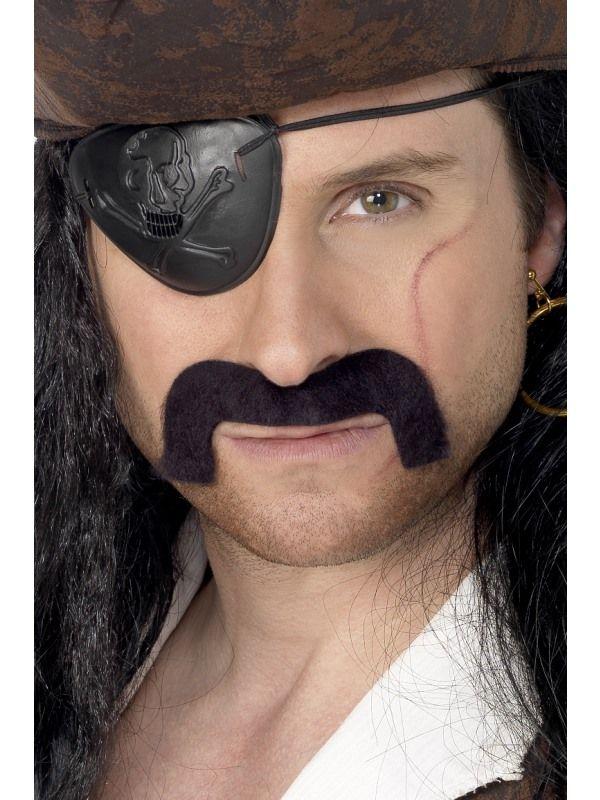 Knírek pirát černý (58) Smiffys.com