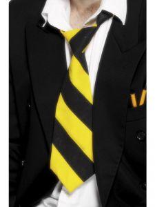 Kravata žlutočerná (8-B)