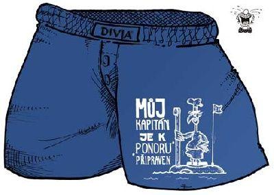 Trenýrky - můj kapitán je k ponoru - XXL (18-J) Divja.cz