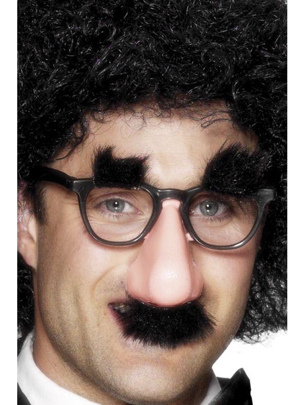 Brýle knír+obočí (48-B) Dreck