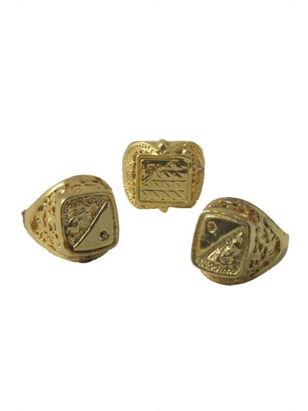 Prsten zlatý - 1kus ( 79-H) Smiffys.com