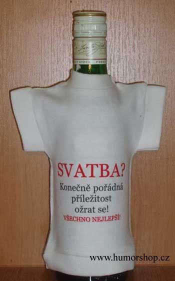 Tričko na flašku svatba? Divja.cz