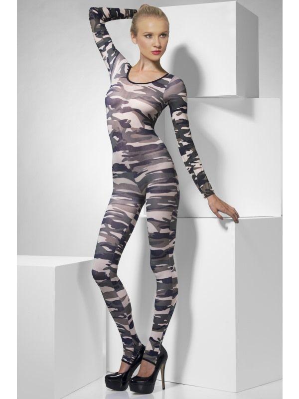 Sexy prádlo - Přiléhavý overal army (34-B) Smiffys.com