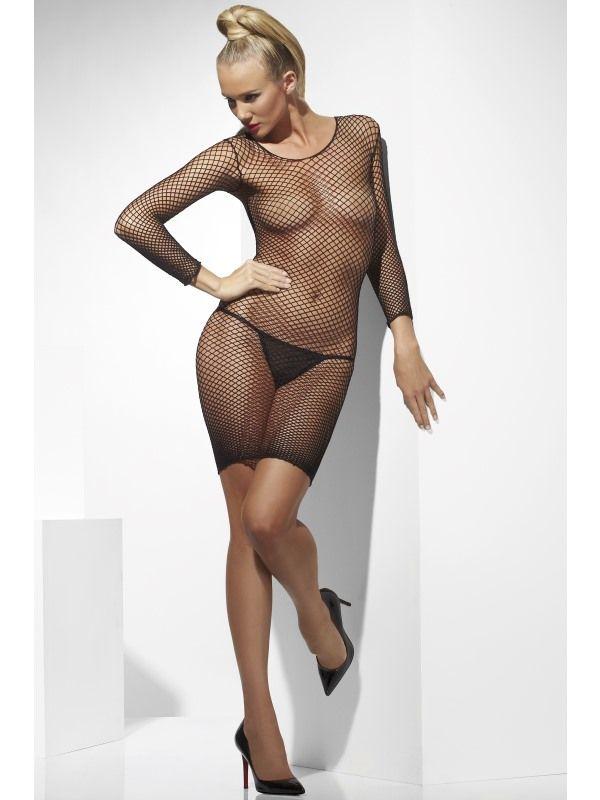 Sexy prádlo - Šaty síťové černé (33-A) Smiffys.com