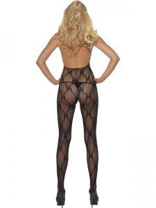 Sexy overal - průhledný černý (75) Smiffys.com