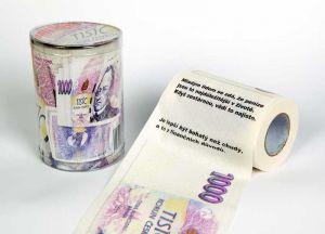 Toaletní papír 1000 Kč