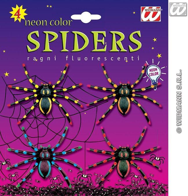 Pavouci - neon 4 ks (92) joke21
