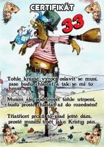Certifikát 33 let - č. 53 (26) joke21