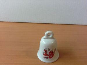 Zvoneček keramický červený 18,20,25 let