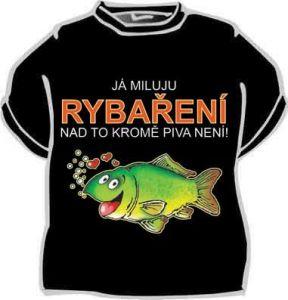 Tričko - Já miluju rybaření... - XL (18-G)