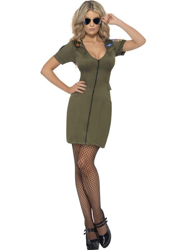 Kostým - Top gun sexy žena - S (87-C) Smiffys.com