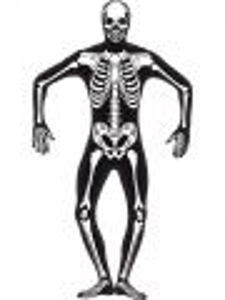 Kostým - Celotělový overal - Kostlivec - S