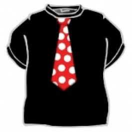 Tričko - kravata červená - XL (18-G) Divja.cz