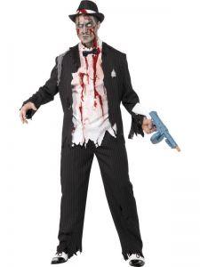 Kostým zombie gangster- M (124Kr04)