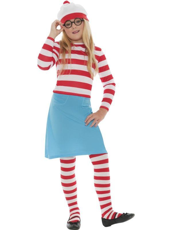 Dětský kostým - Wally Wendy školačka - M Smiffys.com
