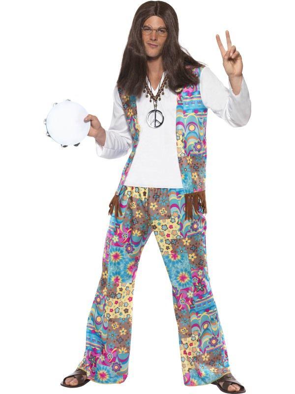 Kostým - Hippiesák - M (99) Smiffys.com
