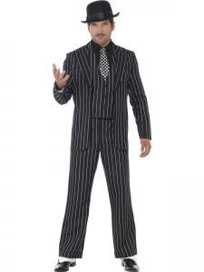 Kostým - Gangster černý  - M (100)
