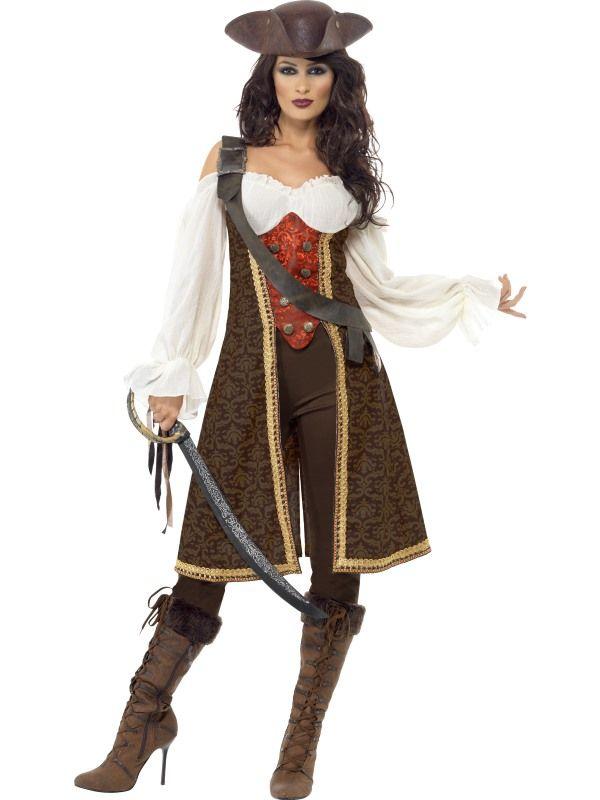 Kostým - Pirátka hnědá - M Smiffys.com