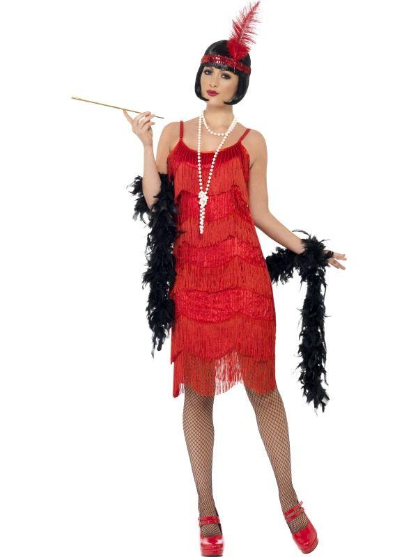 Kostým - Charleston červený - S (87-D) Smiffys.com