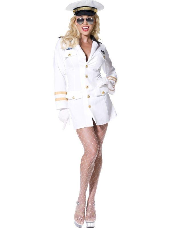 Kostým - Top Gun - kapitánka - S (87-C) Smiffys.com