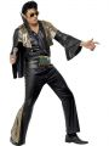 Kostým - Elvis černo-zlatý - M (100)