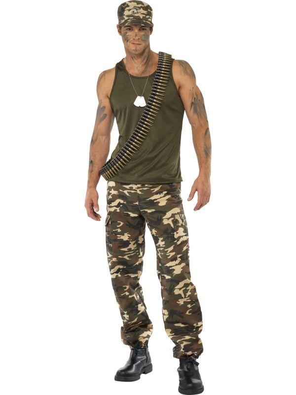Kostým - Voják - maskáče - M (99) Smiffys.com