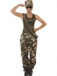 Kostým - Vojenská dívka - maskáče - M (88-C)