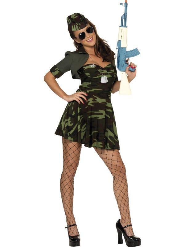 Kostým - Vojenská dívka - M (88-C) Smiffys.com