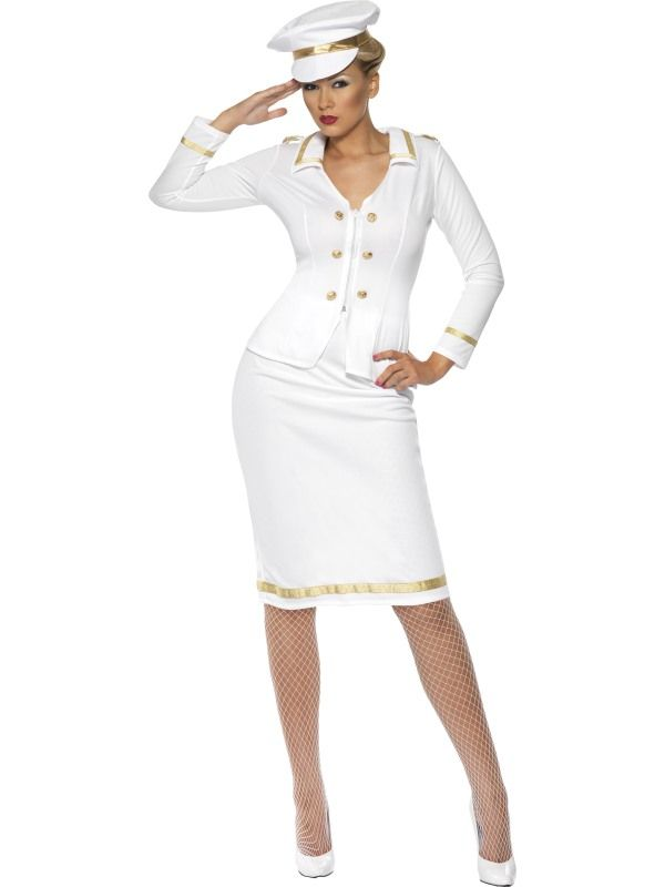 Kostým - Sexy lodní kapitánka - M (88-C) Smiffys.com