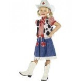 Dětský kostým - kovbojská dívka - M