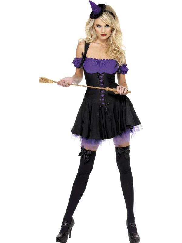 Kostým - Sexy čarodějnice - fialová - S (87-E) Smiffys.com