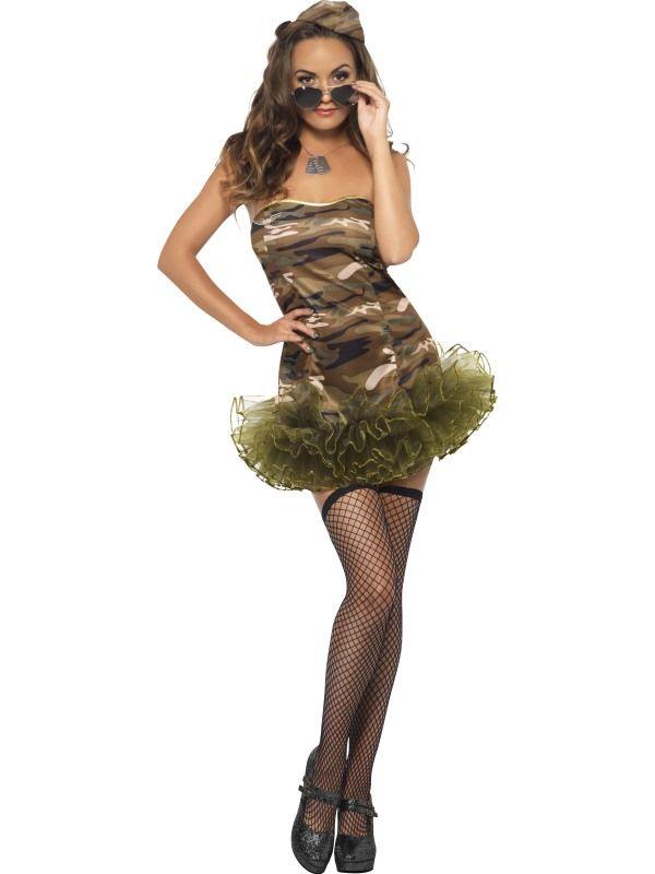 Kostým - Sexy vojanda - XS (87-E) Smiffys.com