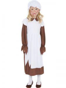 Dětský kostým - viktoriánská chudá dívka - M (85-C)