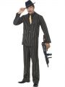 Kostým - Gangster -  černozlatý - L (103)