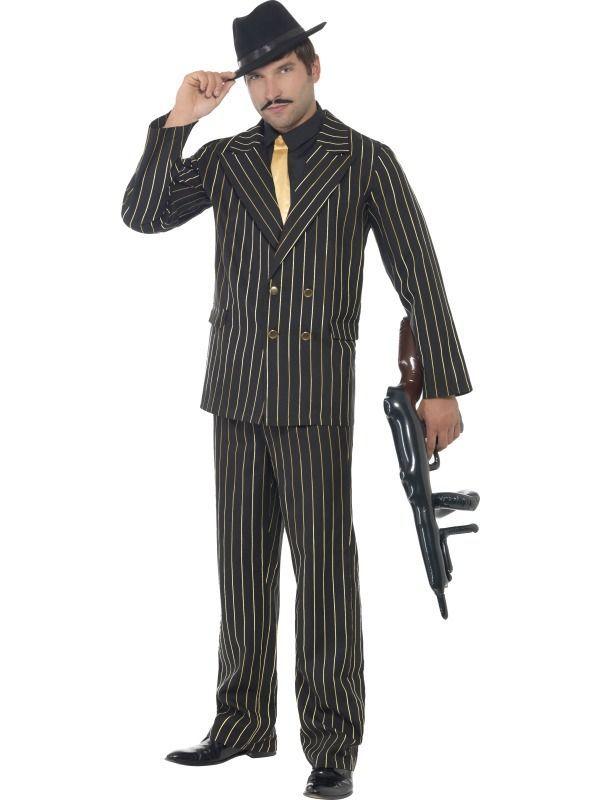 Kostým - Gangster - černozlatý - M (100) Smiffys.com
